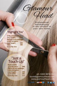 Professional Hair dresser salon Poster template