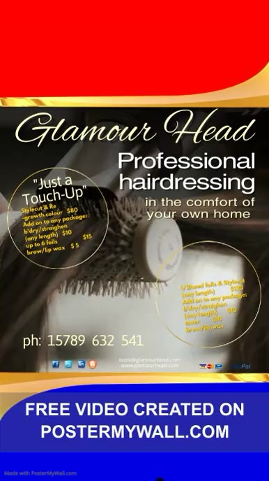 Professional Hairdresser Video