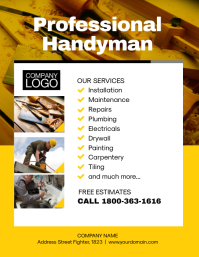 Professional Handyman Flyer Poster Template