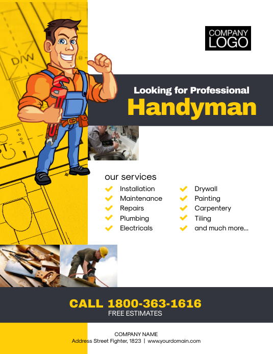 Professional Handyman Flyer Template