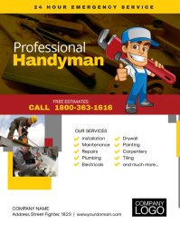Professional Handyman Service Flyer Template