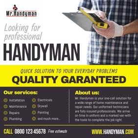 Professional Handyman Services Ad Square Vide