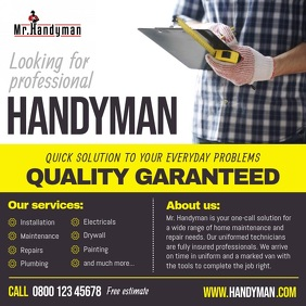 Professional Handyman Services Ad Square Vide