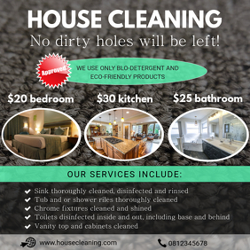 Professional Home Cleaning Ad Template