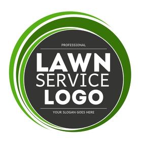 Professional Lawn Service company Logo Square (1:1) template