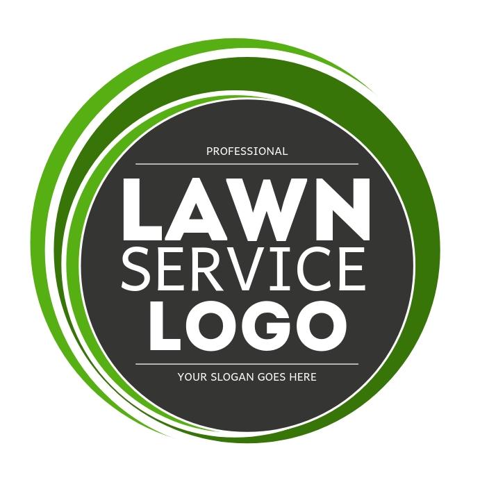 Professional Lawn Service company Logo Kvadrat (1:1) template