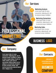 Professional marketing business flyer template design