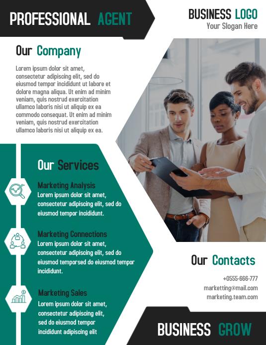 Professional marketing business flyer template design