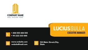 professional modern business card design temp Kartu Bisnis template