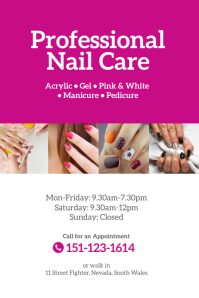 Professional Nail Care Poster Flyer