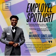 Professional Office Employee Spotlight Templa Instagram-opslag template