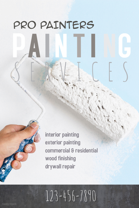 professional painting service flyer