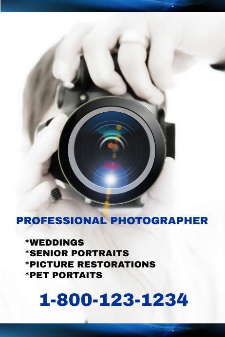 professional photographer template postermywall