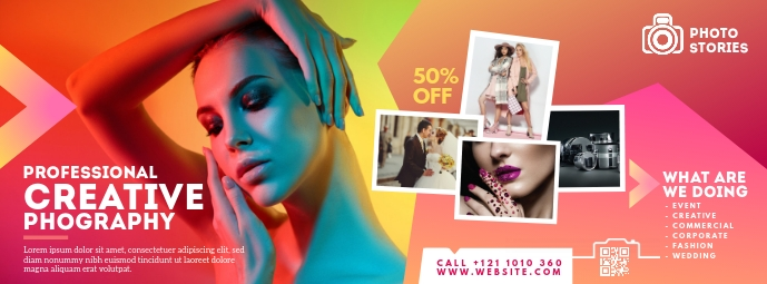 Professional Photography Facebook Cover Photo template