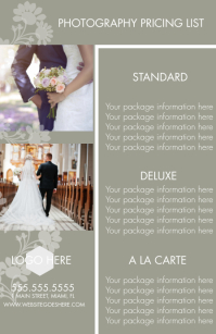 Professional Photography Rack Cards Halbe Seite breit template