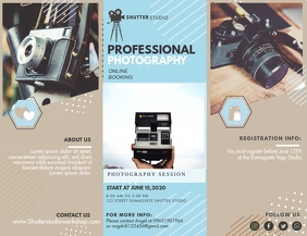 Professional Photography Studio Pamphlet Broc Flyer (US Letter) template