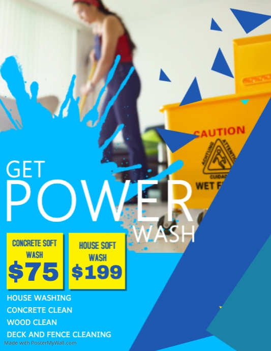 professional power wash flyer template