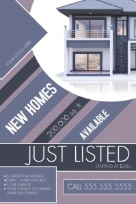 Professional Real Estate Geometric Flyer Temp Плакат template
