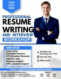 Professional Resume Writing Workshop Flyer