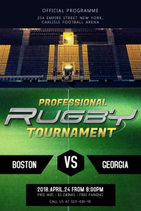 Professional Rugby Tournament Poster Template