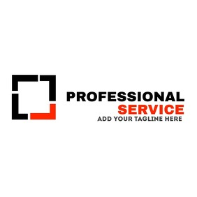 Professional service logo black and red color