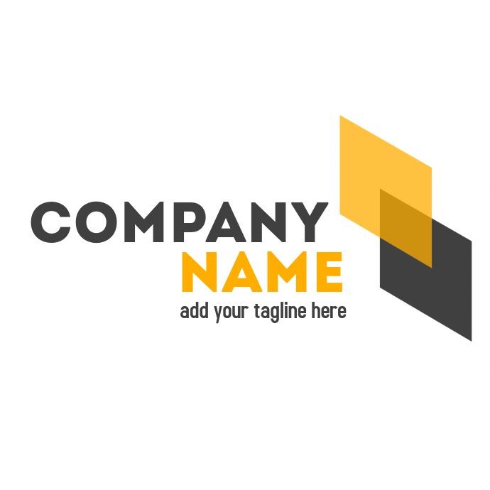 Professional service yellow grey logo