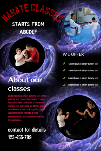 professional services,karate class poster,small business