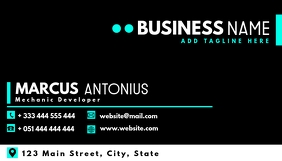 Professional services business card design te