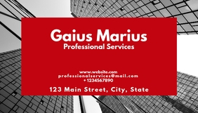 Professional services business card