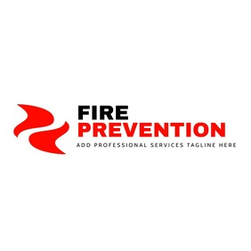 professional services fire prevention center Logo template