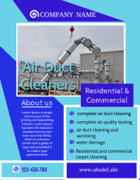professional services flyer,duct cleaning services flyer