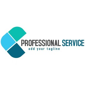 Professional services logo blue shades