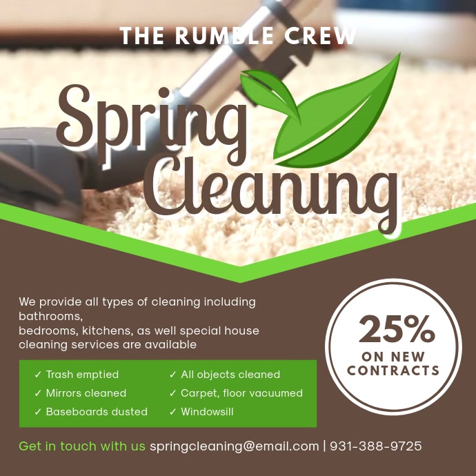 Professional Spring Carpet Cleaning Ad