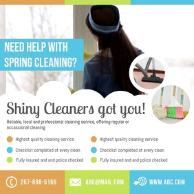 Professional Spring Cleaning Service Instagram Ad Square (1:1) template