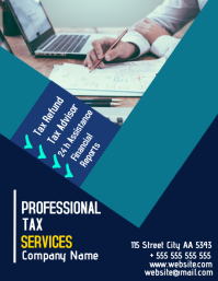 Professional tax services flyer