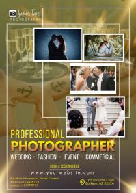 Professional wedding photographer A4 template