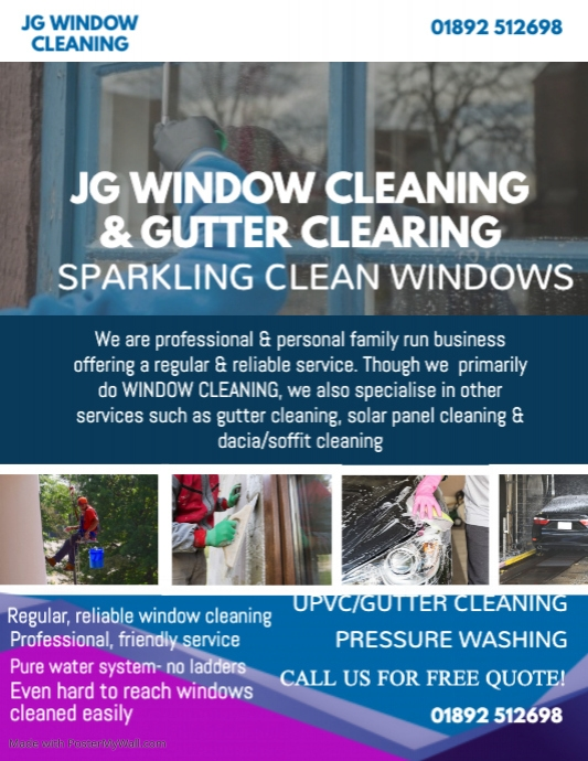 Professional Window Cleaning Flyer Template Postermywall