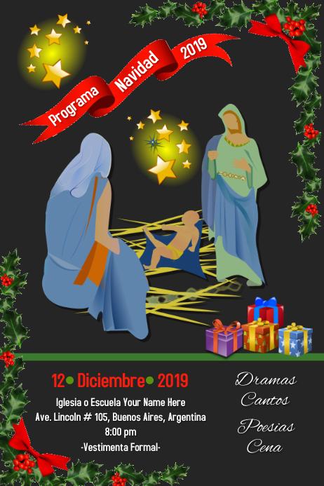 Programa Navidad/Christmas Program/school Plakat template
