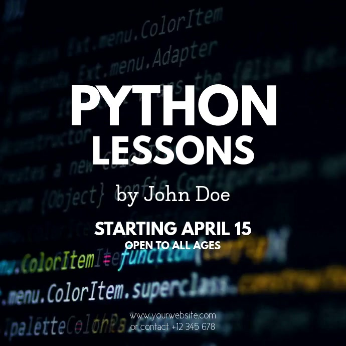 Programming Lessons