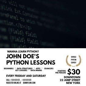 Programming Lessons Template