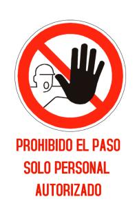 PROHIBIDO EL PASO Poster template