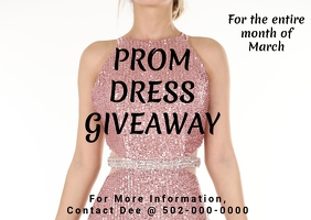 Prom dress drive giveaway Postcard template