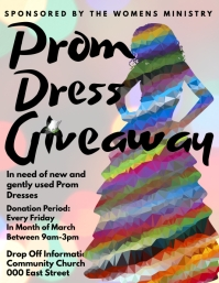Prom dress drive giveaway fundraiser Flyer (US Letter) template