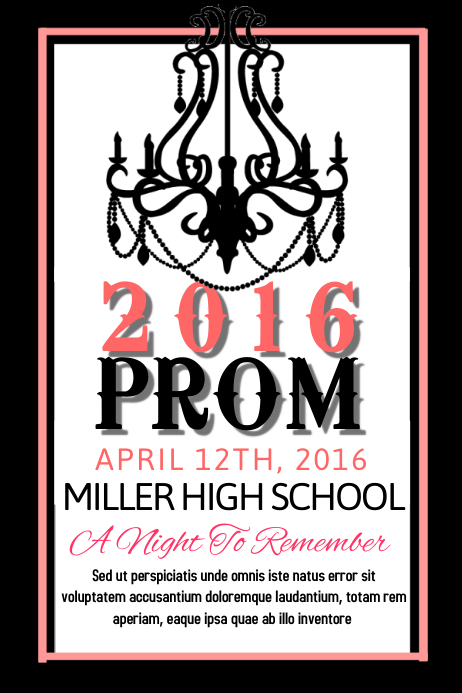 free prom posters online
