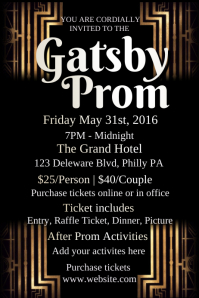 PosterMyWall  Prom Ticket Template