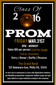 Customizable Design Templates for Prom Party | PosterMyWall