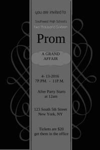 Prom invite Template