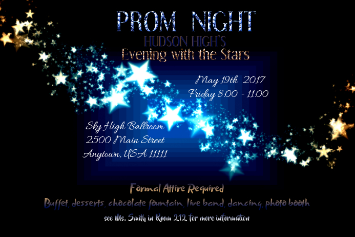 Prom Night Flyer