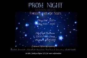 Prom Night Video Flyer