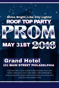 prom flyer templates